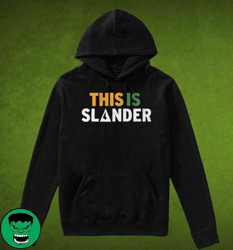 This is Slander Utah Basketball Shirt Hoodie