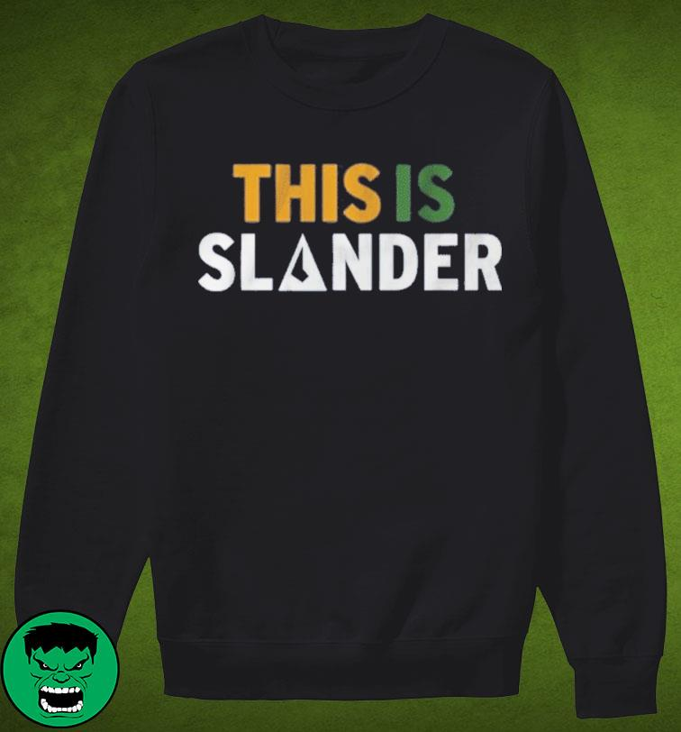 This is Slander Utah Basketball Shirt Sweater