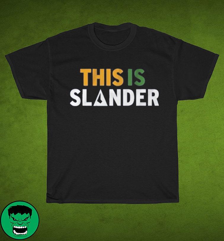 This is Slander Utah Basketball Shirt