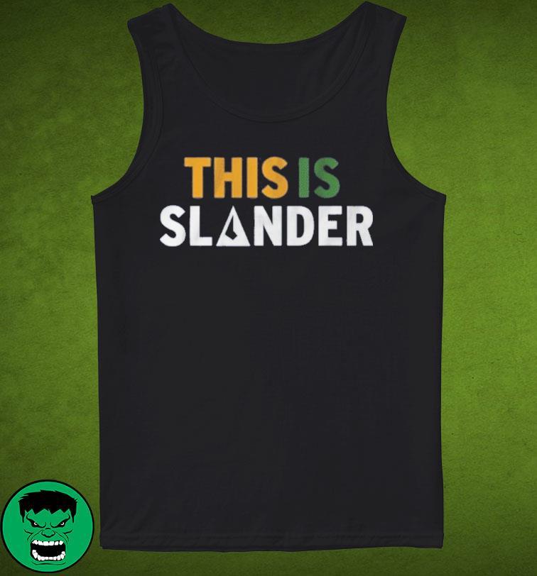 This is Slander Utah Basketball Shirt Tank Top