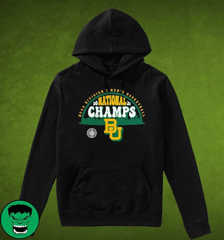 Official BU Baylor Bears1 2021 Basketball National Champions Screen Space Dye1 Shirt Hoodie