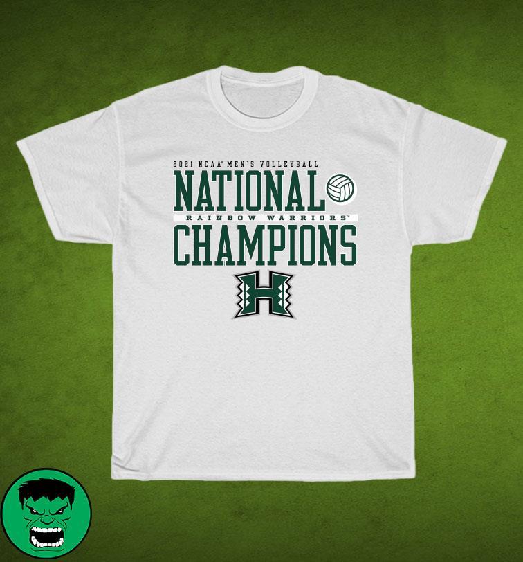 Official Hawaii Warriors 2021 NCAA Men's Volleyball National Champions T-Shirt