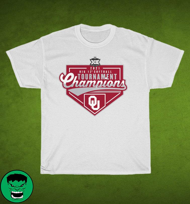 Official Oklahoma Sooners 2021 Big 12 Softball Conference Tournament Champions T-Shirt