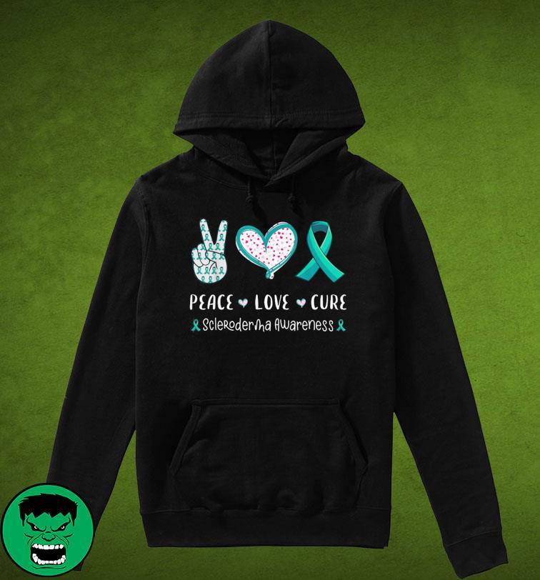 Peace Love Cure Scleroderma Awareness T-Shirt Hoodie