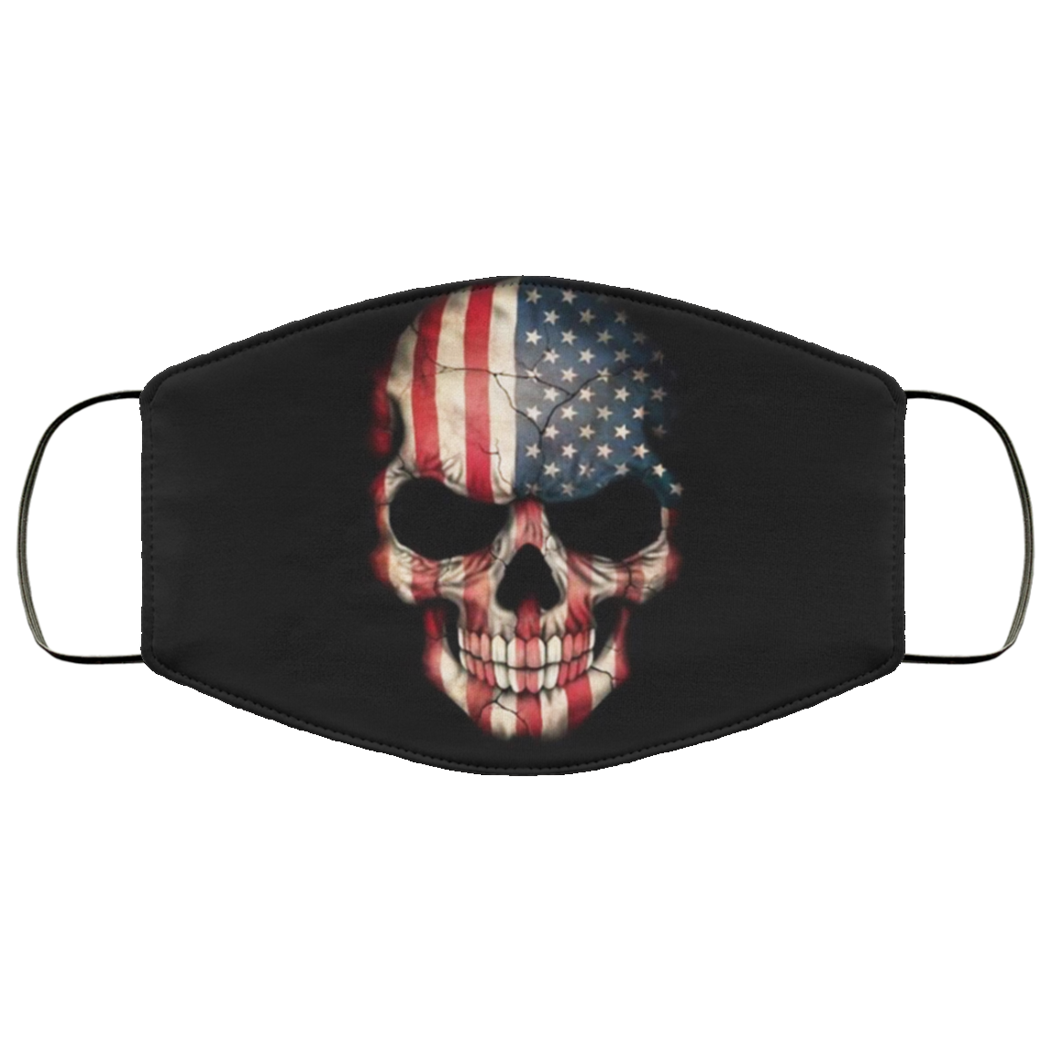American Flag Skull Face Mask