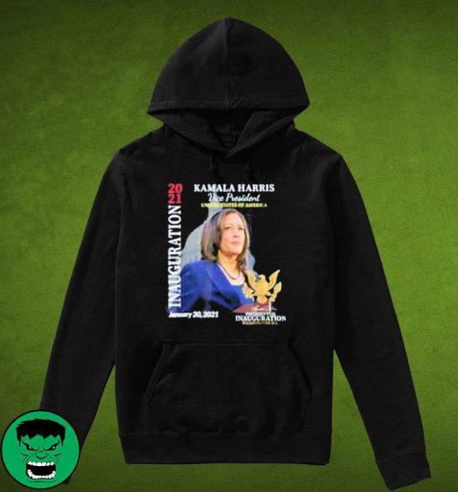 Kamala Harris 2021 Inauguration Day Commemorative Souvenir Women's Shirt Hoodie